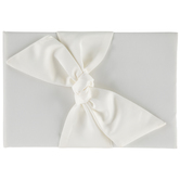 Ivory Satin Knot Guest Book