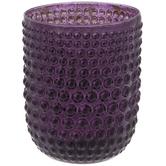 Purple Bubble Glass Candle Holder