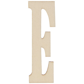 "Vintage Sign Wood Letters E - 4"""