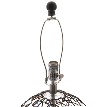 Rattan Wrapped Glass Lamp