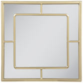 Gold Square Metal Wall Mirror