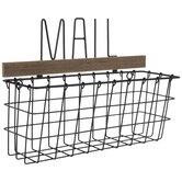 Mail Black Metal Wall Basket
