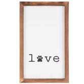 Love Paw Print Wood Wall Decor