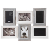 Gray & White Barnwood Collage Wall Frame