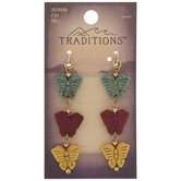 Howlite Butterfly Trio Drop Charms
