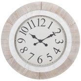 Beige & White Wood Wall Clock