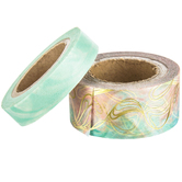 Mint & Coral Marble Washi Tape