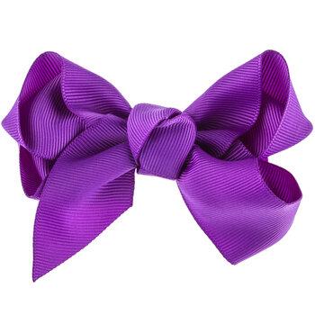 Purple Grosgrain Bow Hair Clip