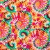 Tie-Dye Cotton Calico Fabric