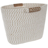 Cream & Natural Coiled Rope Basket