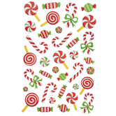 Christmas Candy Glitter Stickers