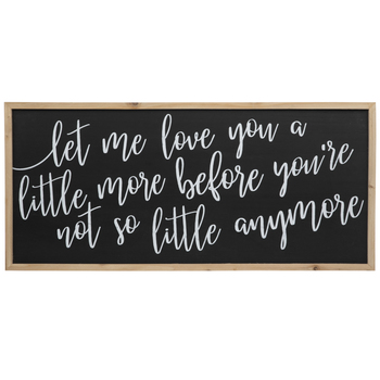 Let Me Love You Wood Wall Decor