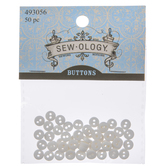 White Tiny Round Buttons - 6mm