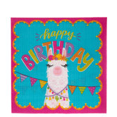 Happy Birthday Llama Napkins - Large