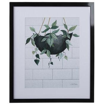 Modern Hanging Fern Framed Wall Decor