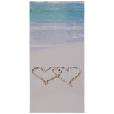 Hearts In Sand Canvas Wall Decor