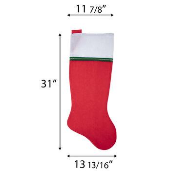 Red & White Giant Felt Stocking