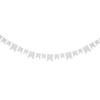 White Paper Banner Ribbon Embellishment