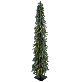 Flocked Accent Pre-Lit Christmas Tree - 6'