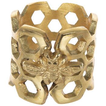 Gold Honey Bee Metal Napkin Ring