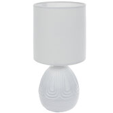 White Textured Mini Lamp