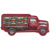 Red Truck Tin Gift Card Holder