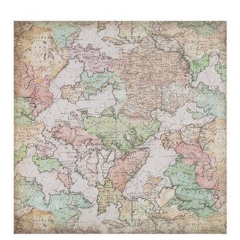 "Uncharted Map Scrapbook Paper - 12"" x 12"""