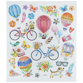 Bike & Hot Air Balloon Foil Stickers