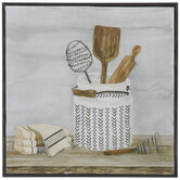 Kitchen Utensils & Container Wood Wall Decor