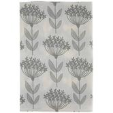 White & Gray Floral Kitchen Towel