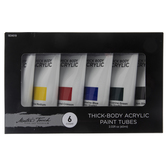 Master's Touch Thick Body Acrylic Paint - 6 Piece Set