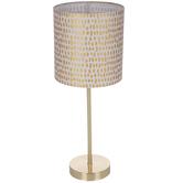 Gold Speckled Metal Lamp