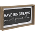 Have Big Dreams Wood Wall Decor