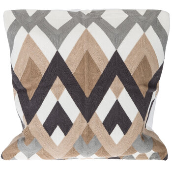 Chevron Embroidered Pillow Cover