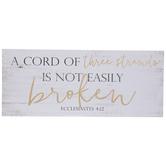 Ecclesiastes 4:12 Wood Wall Decor