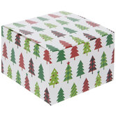 Patterned Christmas Tree Mini Treat Boxes