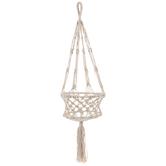 Natural Macrame Basket Plant Hanger
