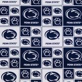 Penn State Block Collegiate Cotton Fabric