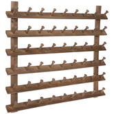 Slatted Wood Wall Decor With Hooks