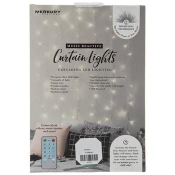 Warm White Music Reactive LED Curtain Lights