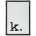 Lowercase Letter Wood Wall Decor - K
