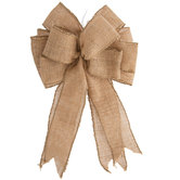 Burlap Wired Edge Bow