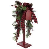 Santa's Mailbox Pine & Berry Arrangement