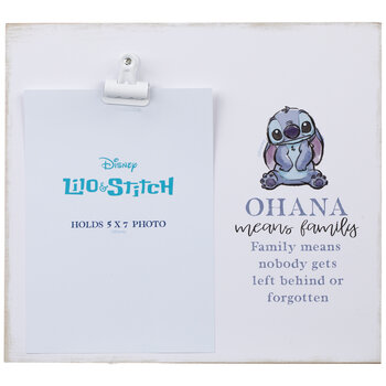 "Lilo & Stitch Ohana Clip Wood Wall Frame - 5"" x 7"""