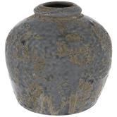 Gray Crackled Vase