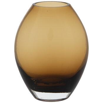 Brown Oval Glass Vase