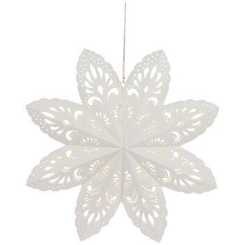 White Ornate Cutout Paper Star