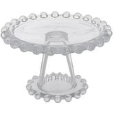 Ball Trim Pedestal Glass Candle Holder