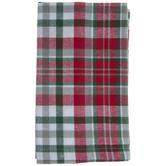Red & Green Plaid Cloth Napkin