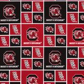 South Carolina Block Collegiate Cotton Fabric